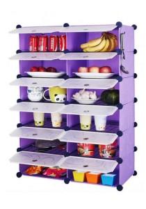 Tupper Cabinet 12 Cubes Purple Stripes DIY  Kitchen Storage With 10 Iron Frame