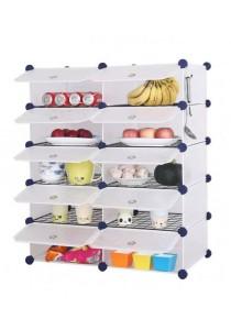 Tupper Cabinet 12 Cubes White Stripes DIY  Kitchen Storage With 10 Iron Frame