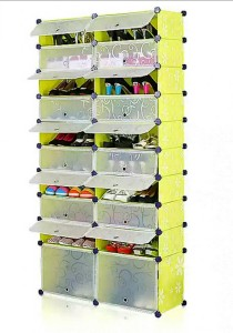 Tupper Cabinet 10 Tier 20 Cubes Green Flower DIY Shoe Rack