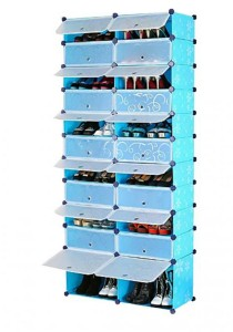 Tupper Cabinet 11 Tier 22 Cubes Blue Flower DIY Shoe Rack