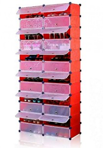 Tupper Cabinet 12 Tier 24 Cubes Red Stripes DIY Shoe Rack