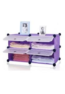 Tupper Cabinet 4 Cubes Purple Stripes DIY Bathroom Storage Rack