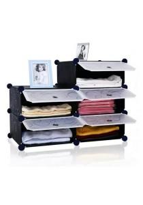 Tupper Cabinet 5 Cubes Black Stripes DIY Bathroom Storage Rack
