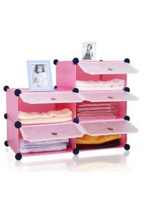 Tupper Cabinet 5 Cubes Pink Color DIY Bathroom Storage