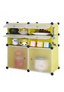 Tupper Cabinet 8 Cubes Fruit Green DIY  Kitchen Storage With 6 Iron Frame