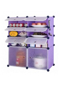 Tupper Cabinet 8 Cubes Purple Stripes DIY  Kitchen Rack With 6 Iron Frame
