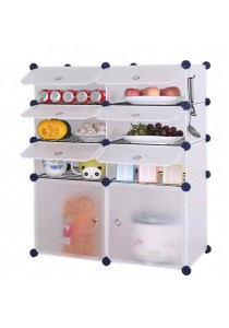 Tupper Cabinet 8 Cubes DIY  Kitchen Storage White with 6 Iron Frame