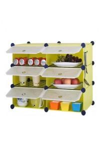 Tupper Cabinet 6 Cubes Fruit Green DIY  Kitchen Storage With 4 Iron Frame