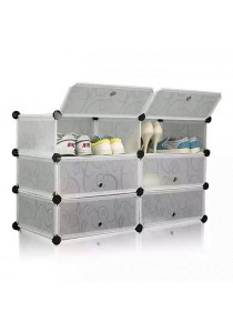Tupper Cabinet 3 Tier 6 Cubes White Stripes DIY Shoe Rack