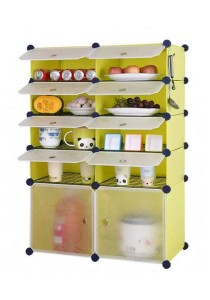 Tupper Cabinet 10 Cubes Fruit Green DIY  Kitchen Storage With 8 Iron Frame