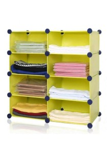 Tupper Cabinet 4 Tier 8 Cubes DIY Storage Rack Fruit Green