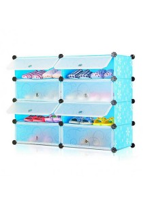 Tupper Cabinet 4 Tier 8 Cubes DIY Shoe Rack - Blue