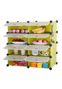 Tupper Cabinet 8 Cubes Fruit Green DIY  Kitchen Rack With 6 Iron Frame