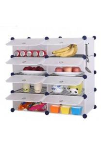 Tupper Cabinet 8 Cubes White Stripes DIY  Kitchen Storage With 6 Iron Frame