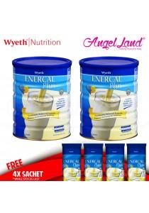 Buy 2x Wyeth Enercal Plus Vanilla Milk Powder 900g + Free 4x Sachet Enercal Plus Sachet 52gm