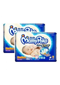 2 Units Mamypoko Extra Dry Diaper Jumbo Pack 80-Piece NewBorn