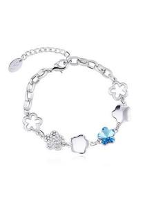 OUXI Plum Blossom Bracelet (Aquamarine)