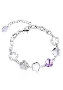 OUXI Plum Blossom Bracelet (Tanzanite)
