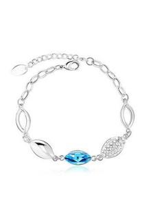 OUXI Lotus Leaf Bracelet (Aquamarine)