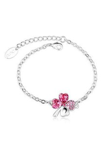 OUXI Four Leaf Clover Bracelet (Rose)