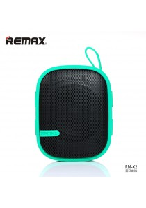 Original Remax RB-X2 Water Resistant Wireless Bluetooth Speaker With Mountaineering Buckle - Green