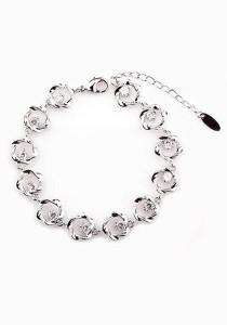 OUXI Elegant Flower Zirconia Bracelet