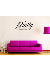 Walplus Family Quote Wall Stickers