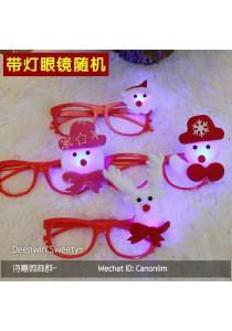 Christmas Glasses with LED - Kid ( Random )