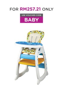 Picardo 'Groovy' 2in1 High Chair (Polka Dot)