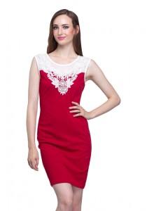 Angel Court Sleeveless Round Neck Midi Dress AC38-5258