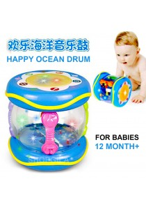 Multi Functional Learning Drum For Babies Happy Ocean Music Drum