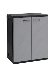 nesthouz.com Optimus Shoe Cabinet C/W 4 Shelf in Grey/Black Colour
