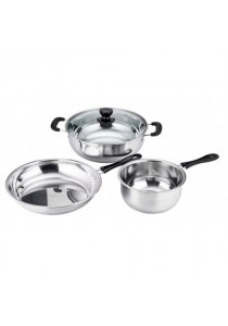 5-In-1 Stainless Steel Set Of Cookware