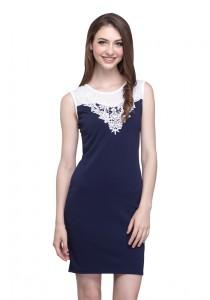 Angel Court Sleeveless Round Neck Midi Dress AC38-5257