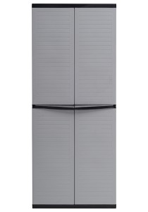 nesthouz.com Optimus Multi Purpose Cabinet in Grey/Black Colour