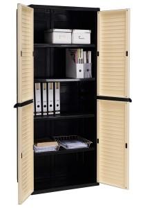 nesthouz.com Optimus Large Storage Cabinet in Grey/Black