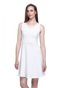 Angel Court Sleeveless Round Neck Midi Dress AC38-5260