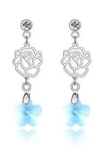 Love of Rose Earrings (Aquamarine)