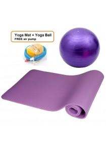 *READY STOCK* Yoga Fitness Exercise Gym Ball 65cm + Yoga Mat FREE Air Pump