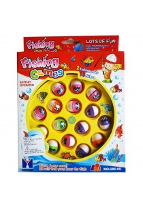 Musical 15 Fishes Fishing Game with 2 Fishing Rods
