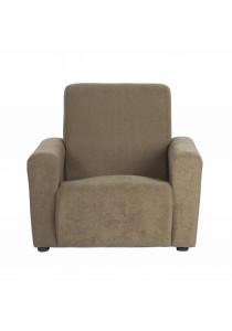 Issac Fabric Single Seater Kids Sofa - Mocha