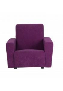Issac Fabric Single Seater Kids Sofa - Purple