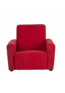 Issac Fabric Single Seater Kids Sofa - Red
