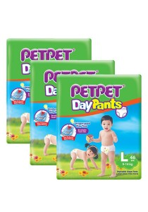 PETPET Day Pants Diaper Jumbo Packs L46 (3 packs)