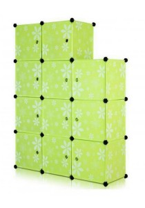 Tupper Cabinet 11 Cubes DIY Storage Cabinet Green Flower