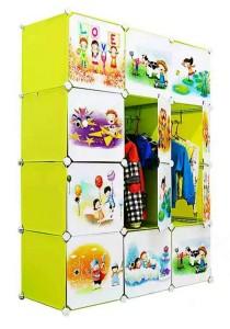 Tupper Cabinet 12 Cubes Fruit Green Cartoon  DIY Wardrobe
