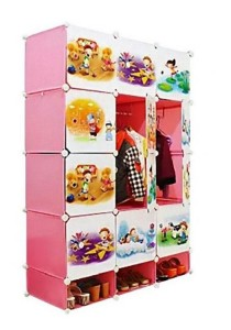 Tupper Cabinet 15 Cubes Pink Color DIY Cartoon (Story) Wardrobe