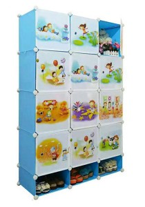 Tupper Cabinet 15 Cubes DIY Sky Blue Cartoon(Story) Cabinet with Mini Bottom