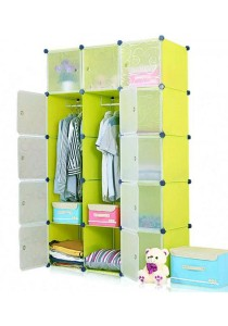 Tupper Cabinet 15 Cubes 2-Hangers Fruit Green DIY Wardrobe
