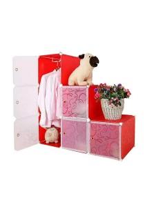 Tupper Cabinet 6 Cubes Black Stripes  DIY L-Shape Wardrobe